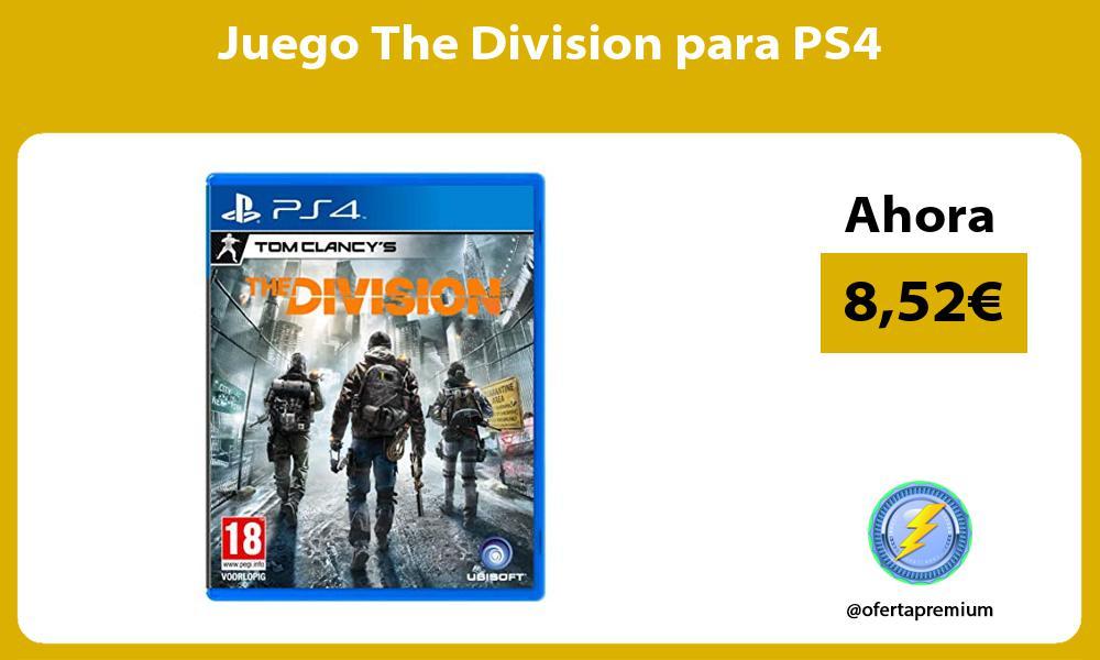 Juego The Division para PS4