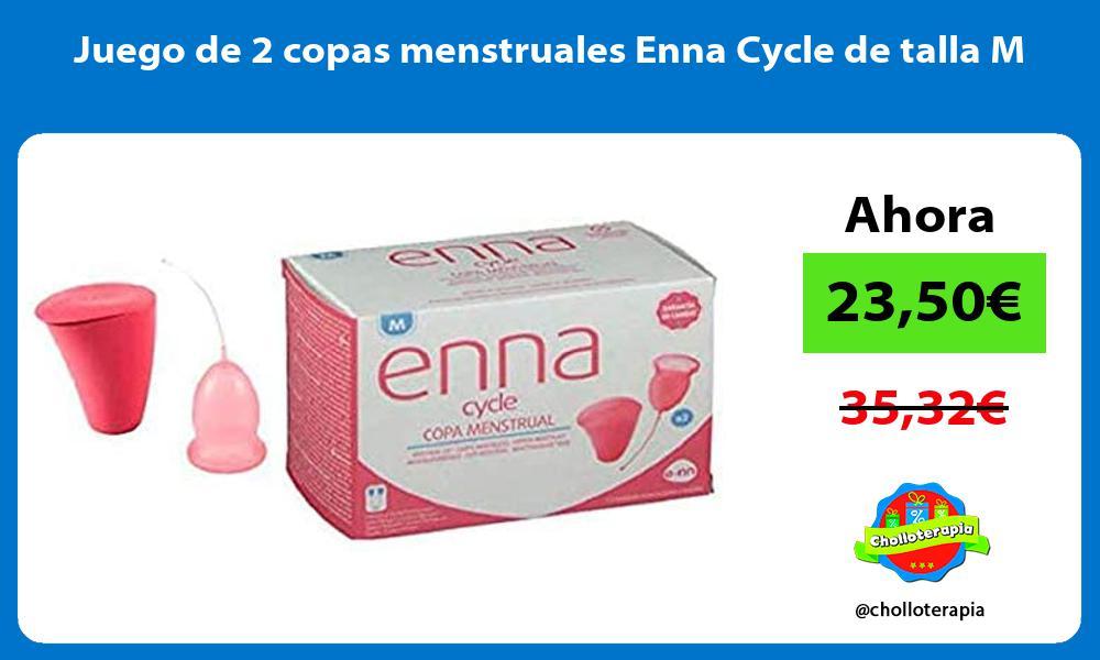 Juego de 2 copas menstruales Enna Cycle de talla M