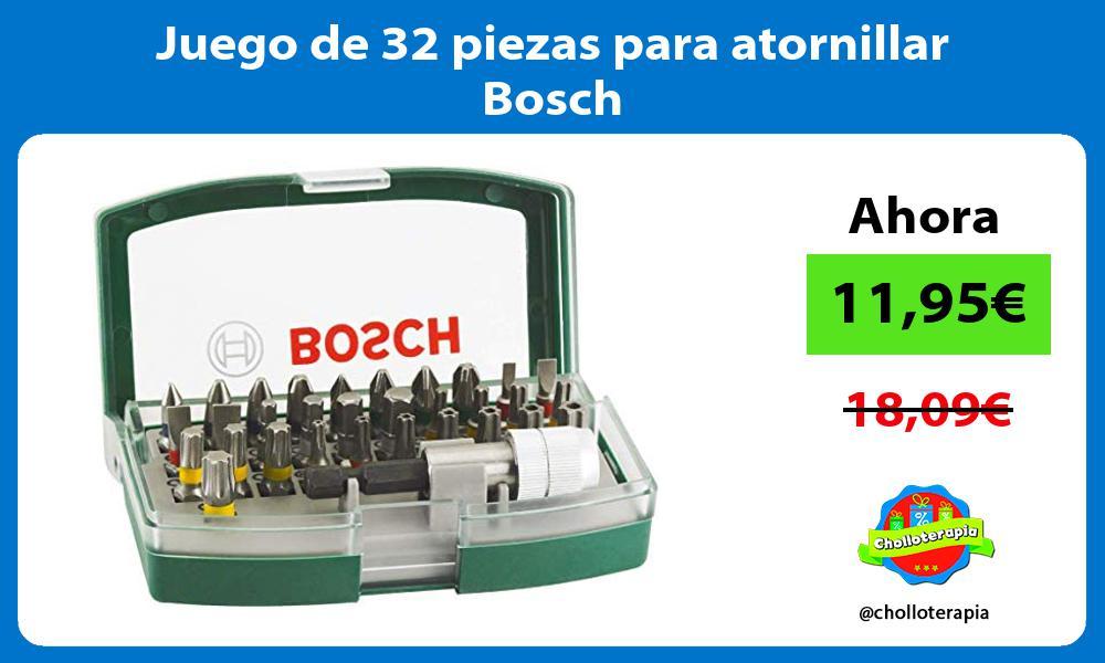 Juego de 32 piezas para atornillar Bosch