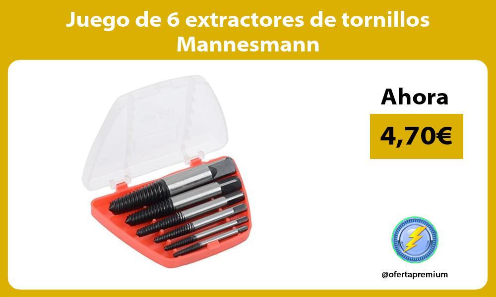 Juego de 6 extractores de tornillos Mannesmann