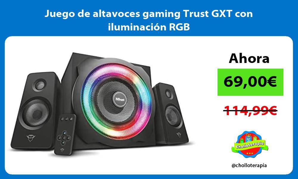 Juego de altavoces gaming Trust GXT con iluminación RGB