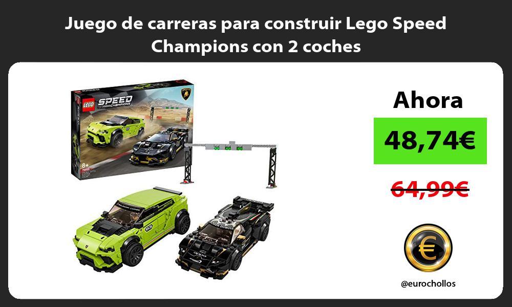 Juego de carreras para construir Lego Speed Champions con 2 coches