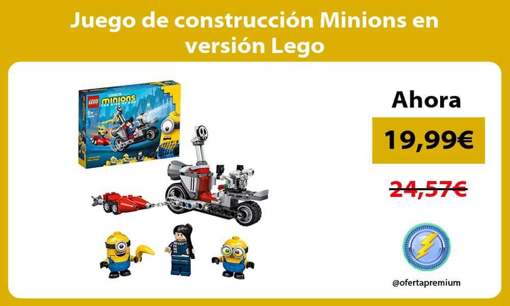 Juego de construcción Minions en versión Lego