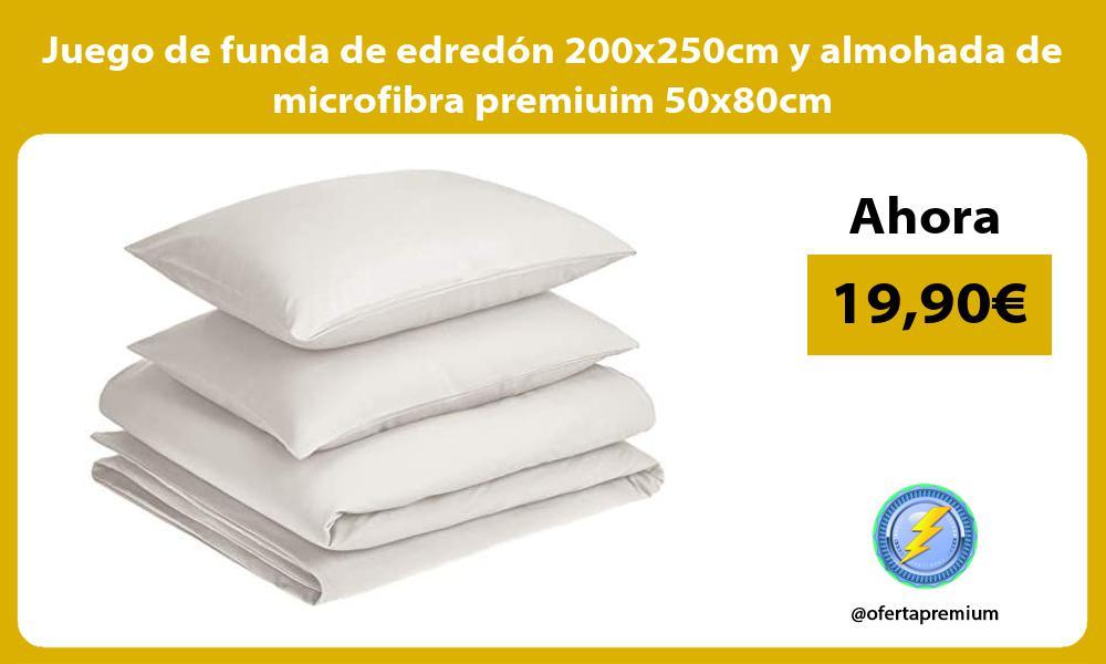 Juego de funda de edredón 200x250cm y almohada de microfibra premiuim 50x80cm