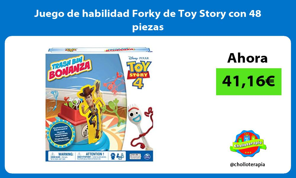 Juego de habilidad Forky de Toy Story con 48 piezas
