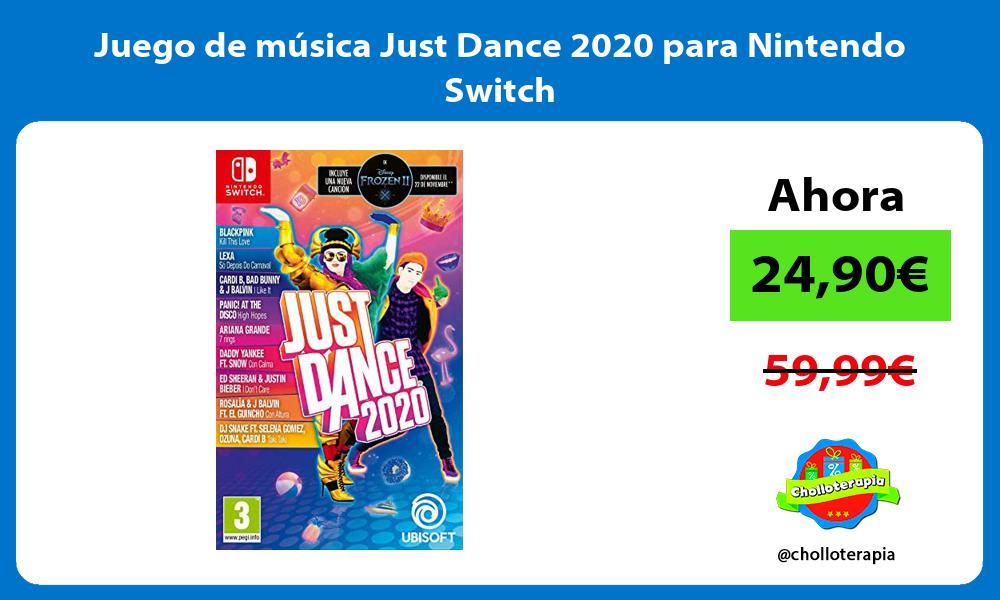 Juego de música Just Dance 2020 para Nintendo Switch