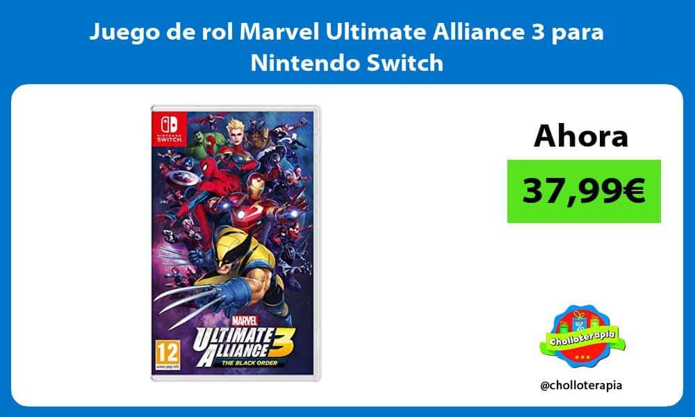 Juego de rol Marvel Ultimate Alliance 3 para Nintendo Switch