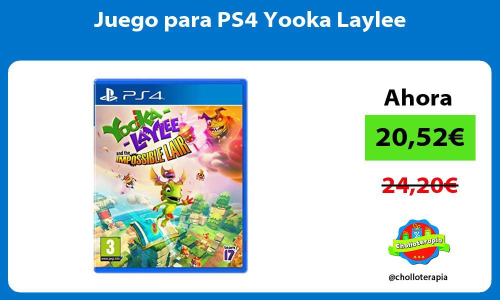 Juego para PS4 Yooka Laylee