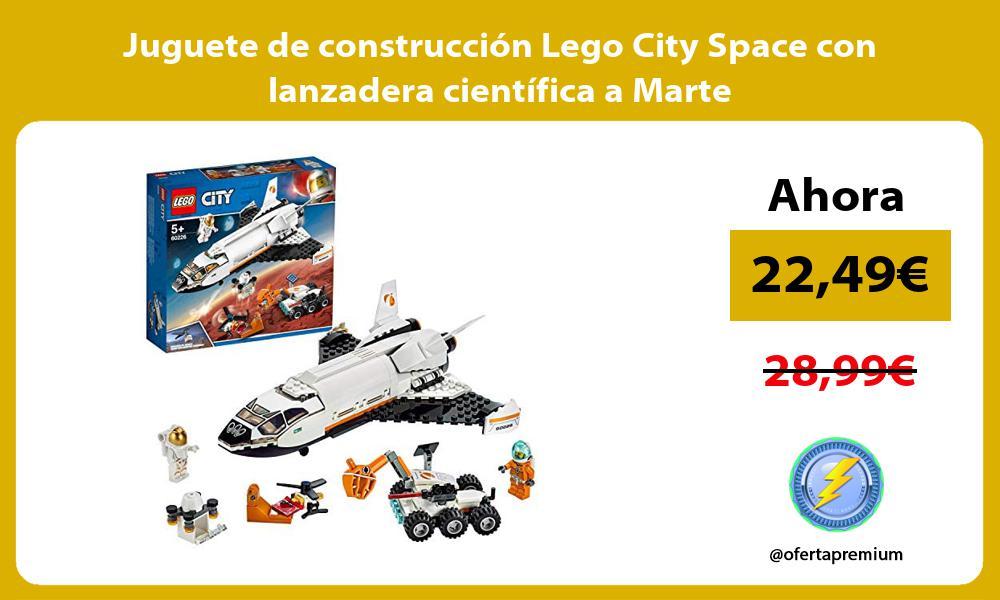 Juguete de construcción Lego City Space con lanzadera científica a Marte