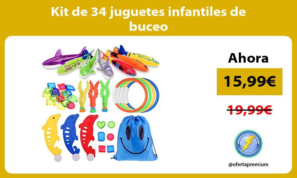 Kit de 34 juguetes infantiles de buceo