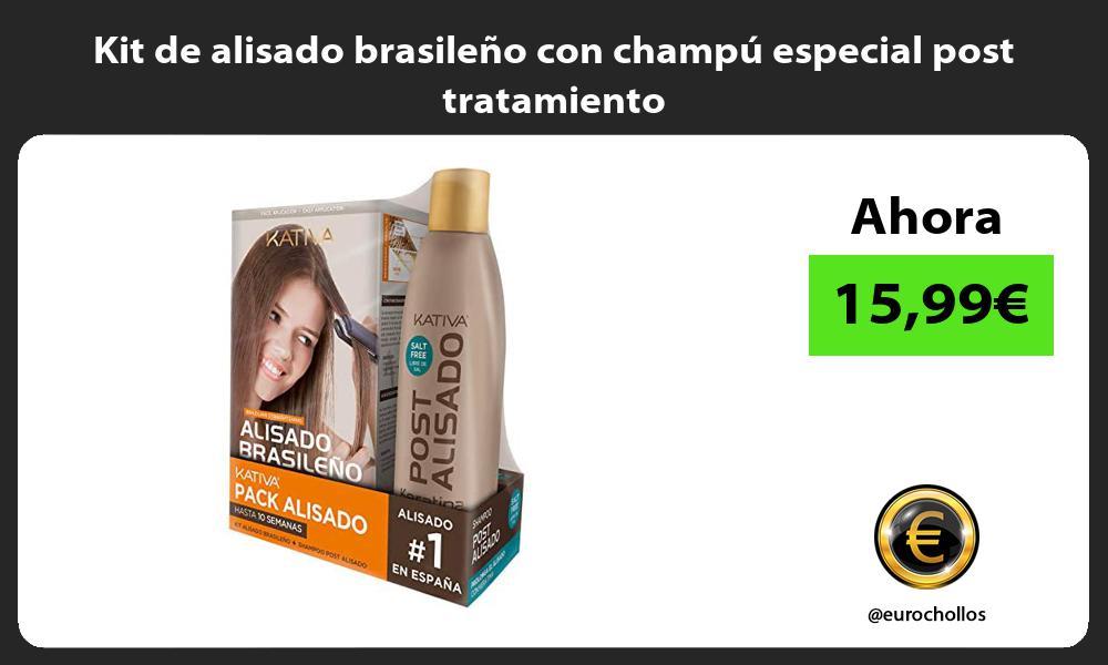 Kit de alisado brasileño con champú especial post tratamiento