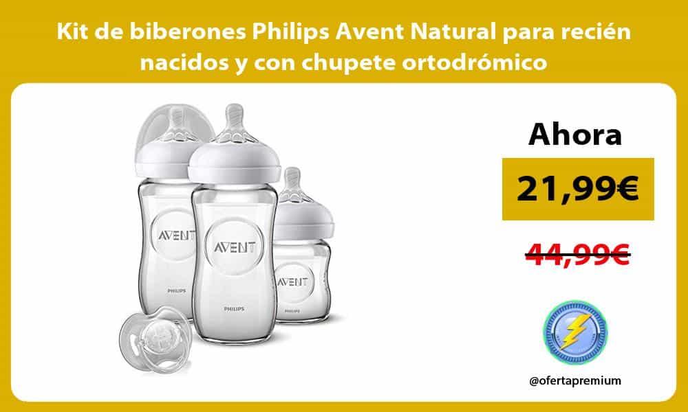 Kit de biberones Philips Avent Natural para recién nacidos y con chupete ortodrómico