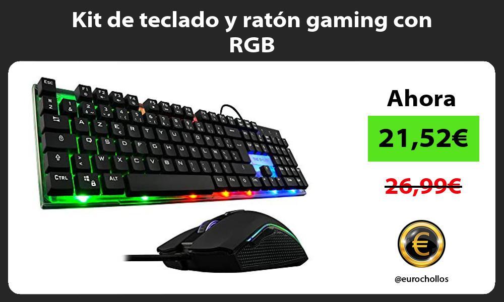 Kit de teclado y ratón gaming con RGB