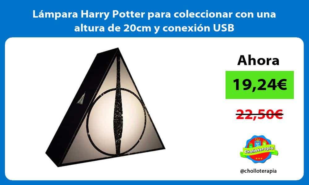 Lámpara Harry Potter para coleccionar con una altura de 20cm y conexión USB
