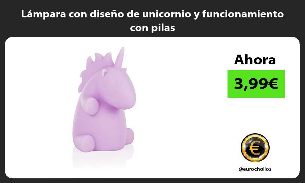Lámpara con diseño de unicornio y funcionamiento con pilas
