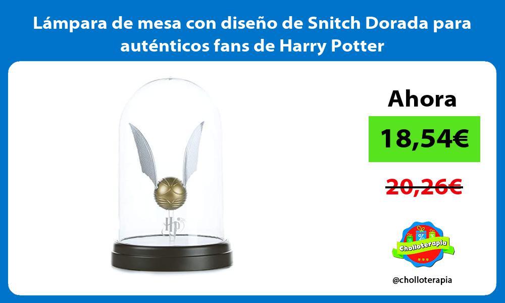 Lámpara de mesa con diseño de Snitch Dorada para auténticos fans de Harry Potter