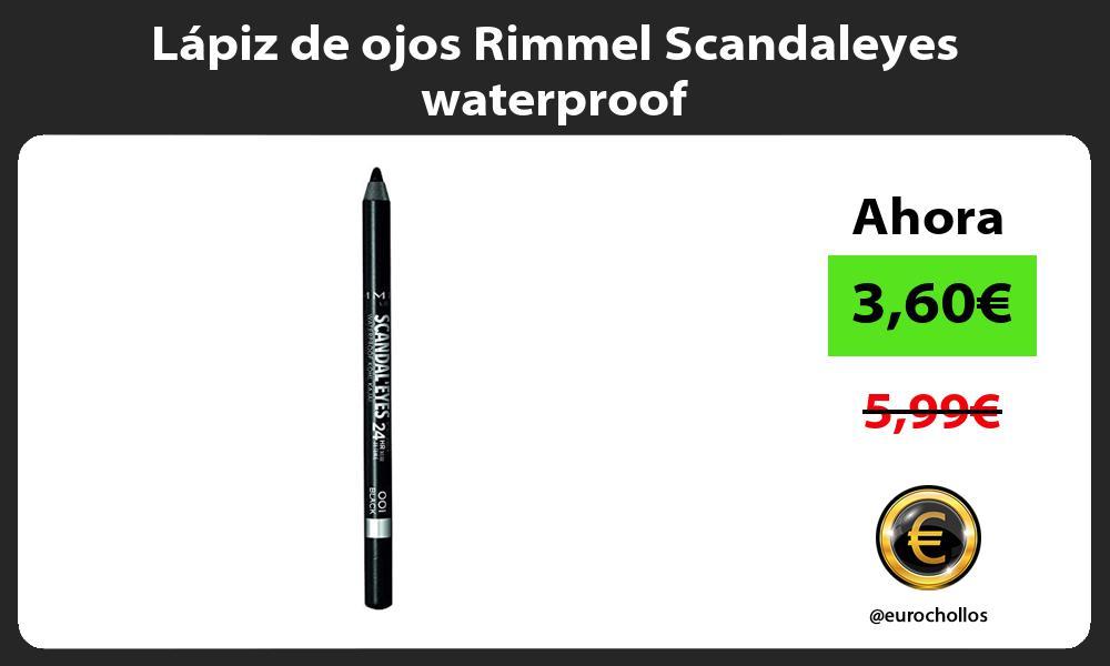 Lápiz de ojos Rimmel Scandaleyes waterproof