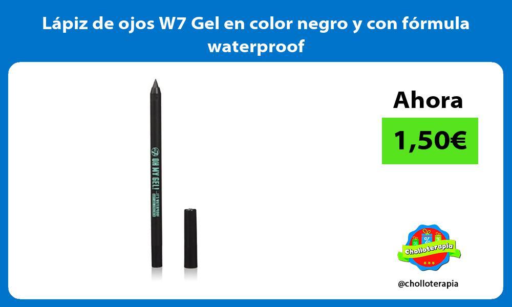 Lápiz de ojos W7 Gel en color negro y con fórmula waterproof