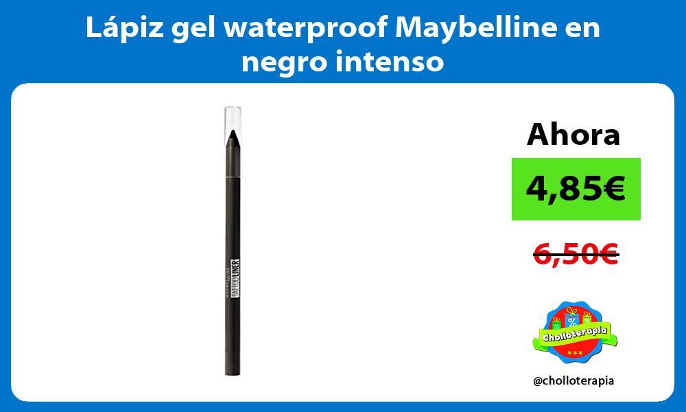Lápiz gel waterproof Maybelline en negro intenso