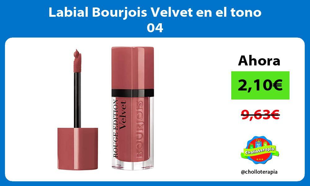 Labial Bourjois Velvet en el tono 04