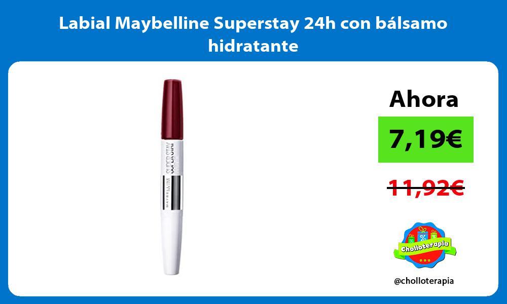 Labial Maybelline Superstay 24h con bálsamo hidratante