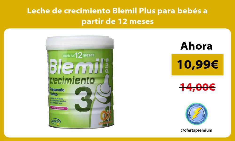 Leche de crecimiento Blemil Plus para bebés a partir de 12 meses