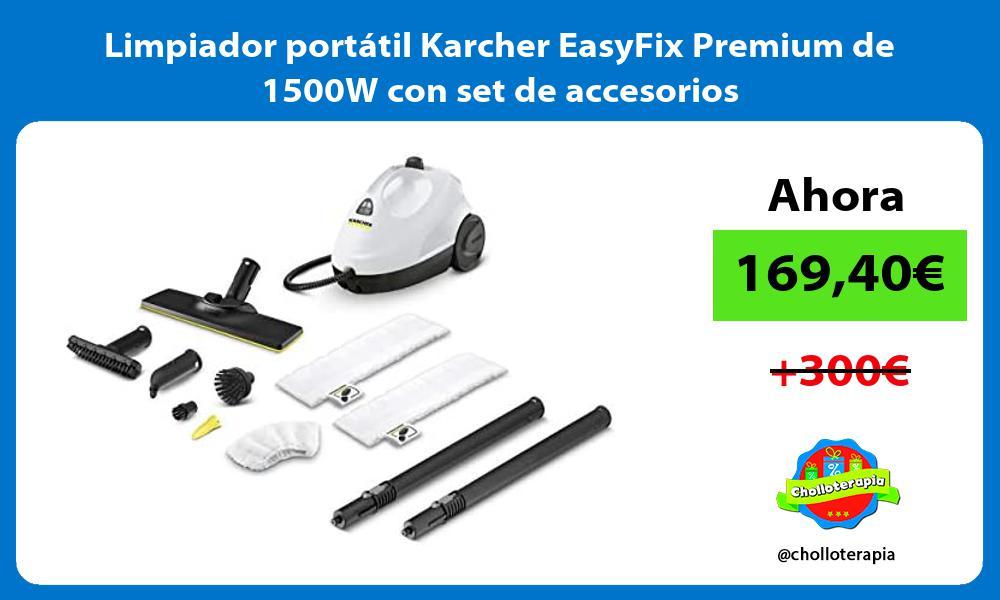 Limpiador portátil Karcher EasyFix Premium de 1500W con set de accesorios