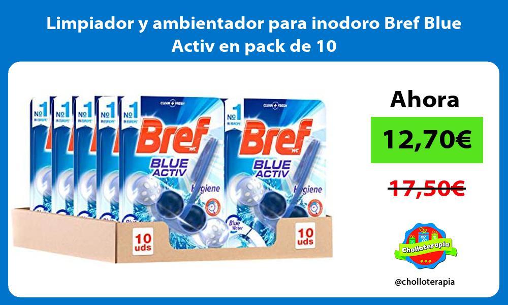 Limpiador y ambientador para inodoro Bref Blue Activ en pack de 10
