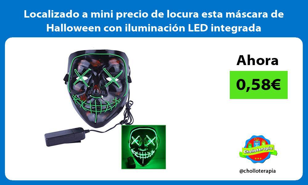 Localizado a mini precio de locura esta máscara de Halloween con iluminación LED integrada