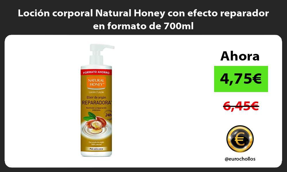 Loción corporal Natural Honey con efecto reparador en formato de 700ml