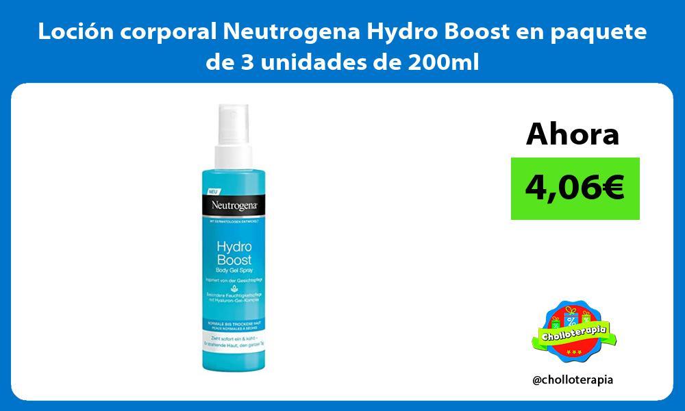 Loción corporal Neutrogena Hydro Boost en paquete de 3 unidades de 200ml