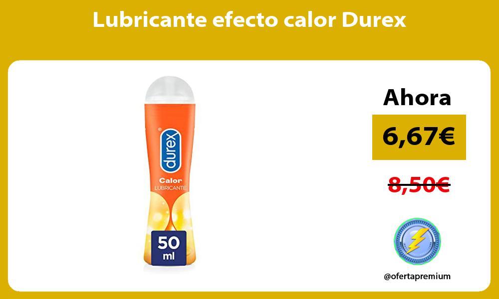 Lubricante efecto calor Durex