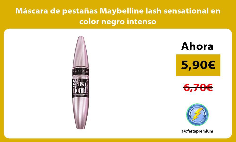 Máscara de pestañas Maybelline lash sensational en color negro intenso