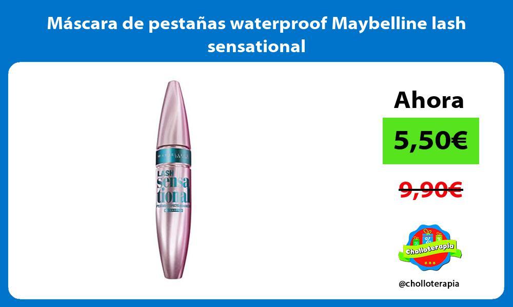 Máscara de pestañas waterproof Maybelline lash sensational