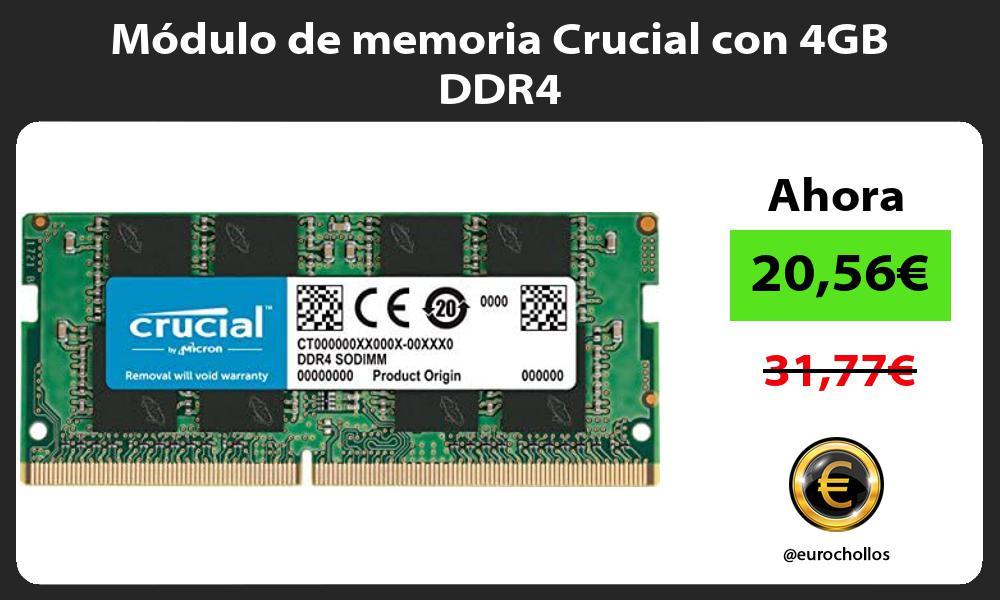 Módulo de memoria Crucial con 4GB DDR4