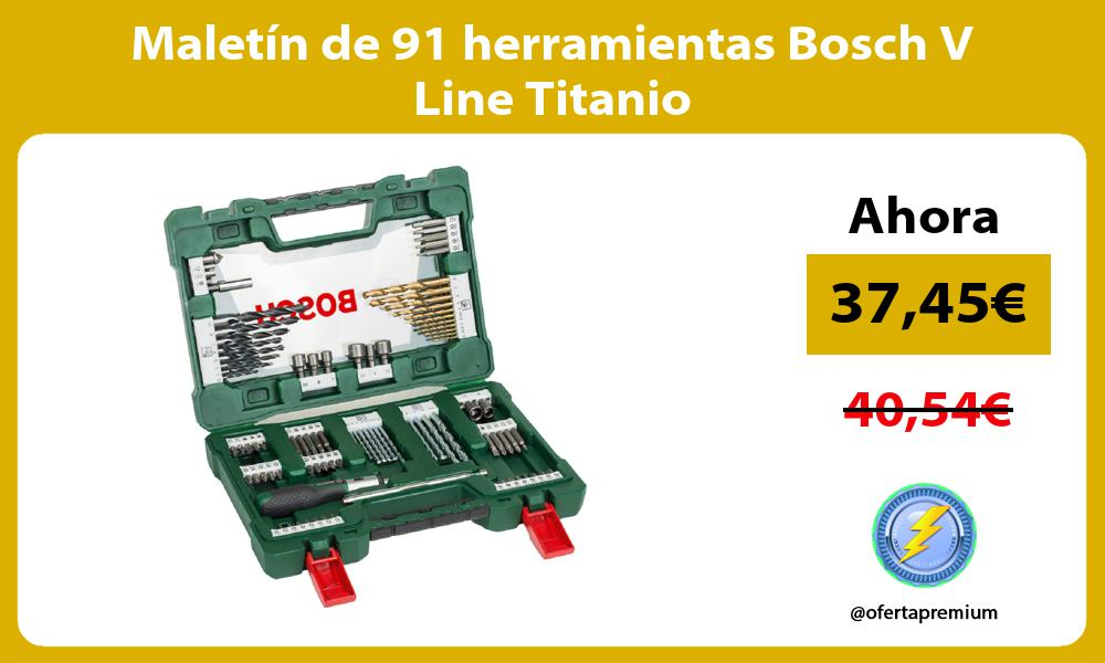Maletín de 91 herramientas Bosch V Line Titanio