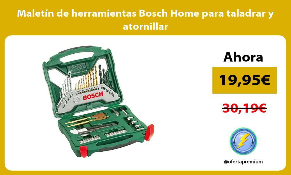 Maletín de herramientas Bosch Home para taladrar y atornillar