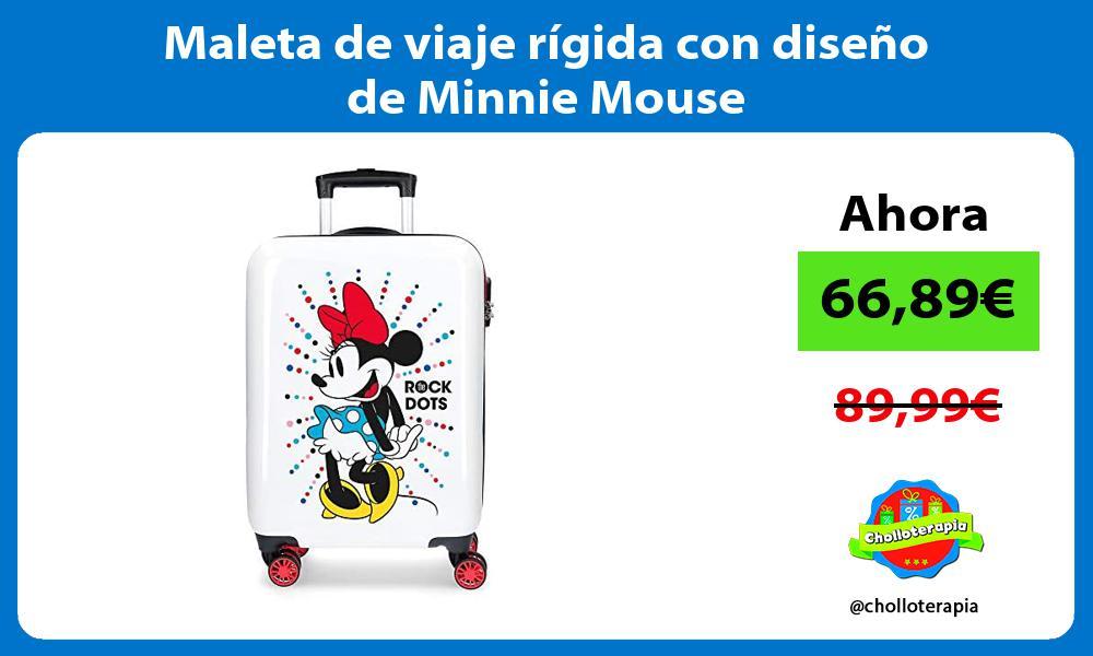 Maleta de viaje rígida con diseño de Minnie Mouse
