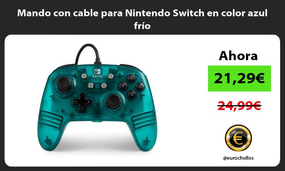 Mando con cable para Nintendo Switch en color azul frío
