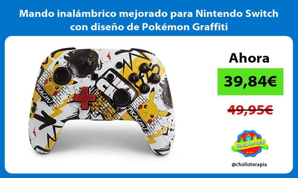 Mando inalámbrico mejorado para Nintendo Switch con diseño de Pokémon Graffiti