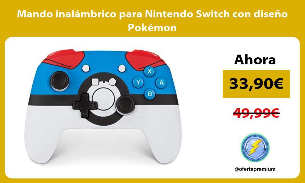 Mando inalámbrico para Nintendo Switch con diseño Pokémon