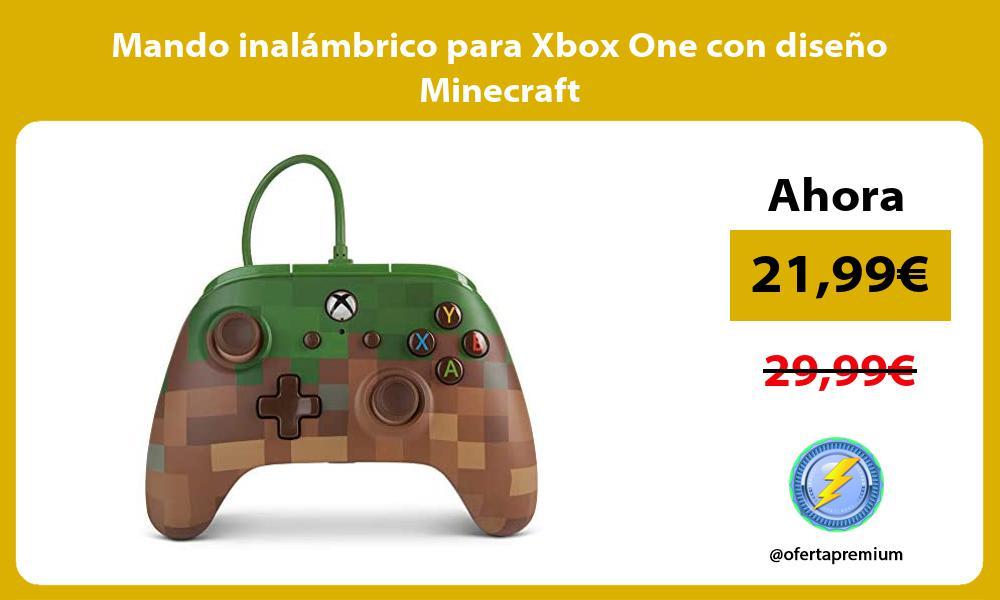 Mando inalámbrico para Xbox One con diseño Minecraft