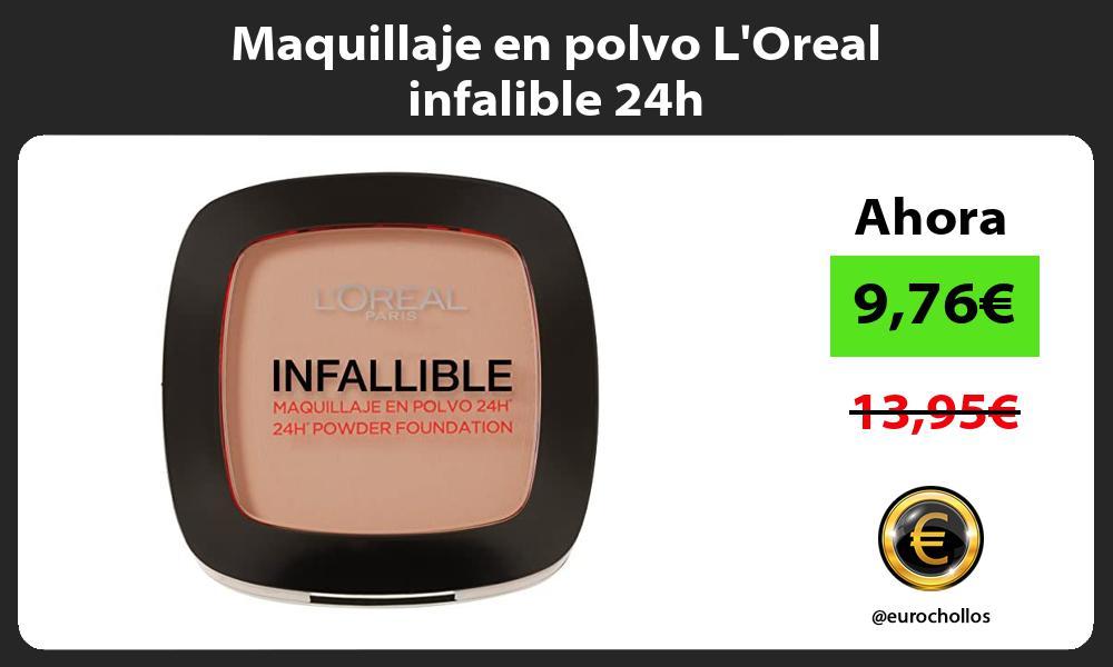 Maquillaje en polvo LOreal infalible 24h