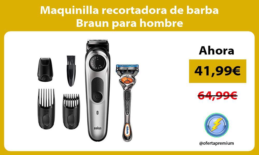 Maquinilla recortadora de barba Braun para hombre