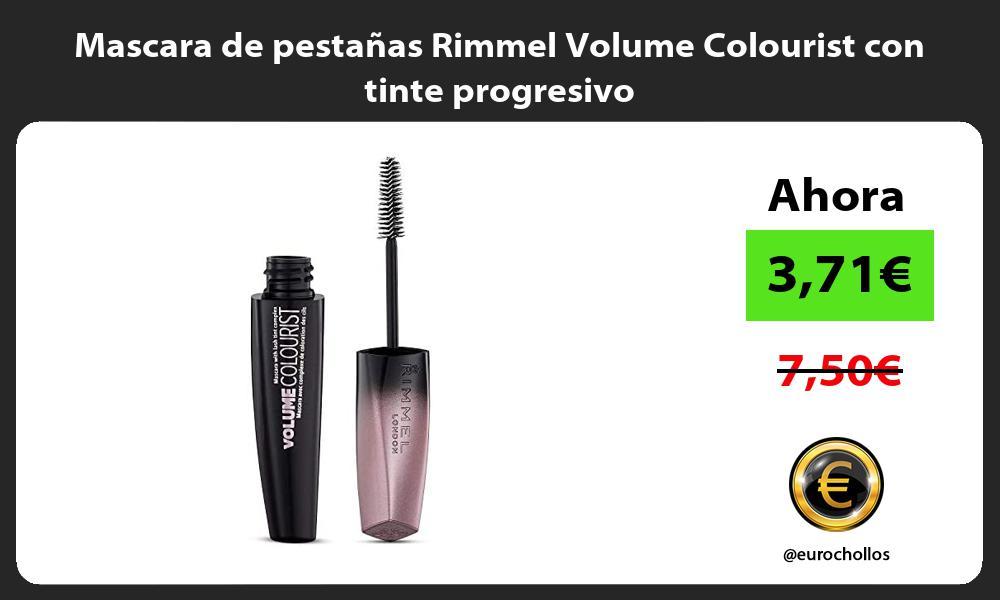 Mascara de pestañas Rimmel Volume Colourist con tinte progresivo