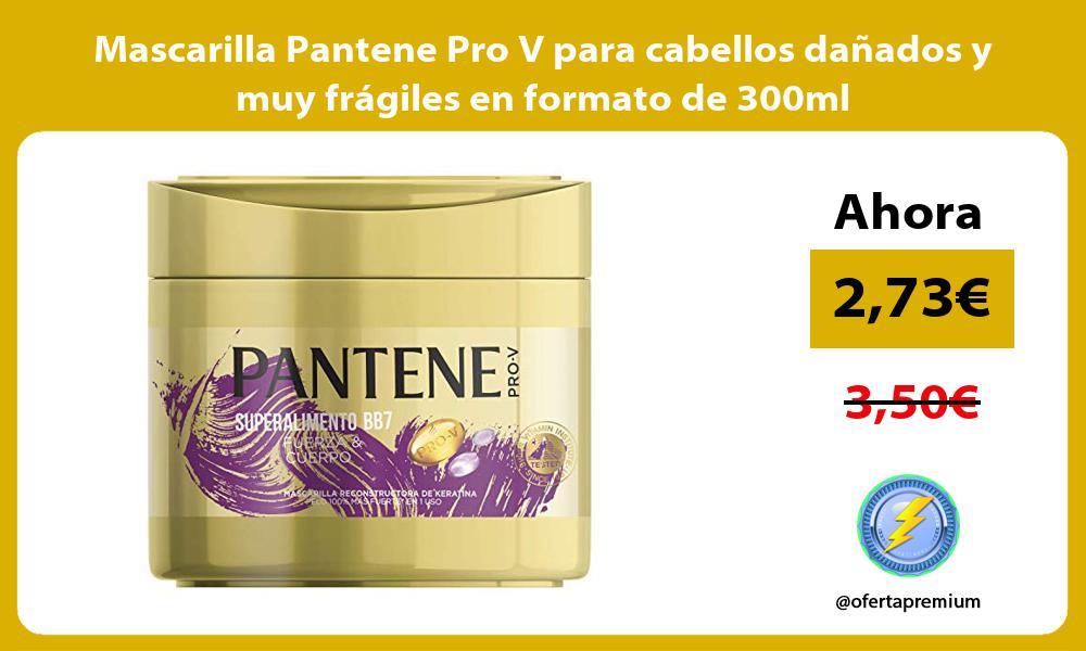 Mascarilla Pantene Pro V para cabellos dañados y muy frágiles en formato de 300ml