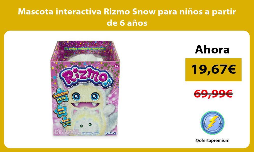 Mascota interactiva Rizmo Snow para niños a partir de 6 años