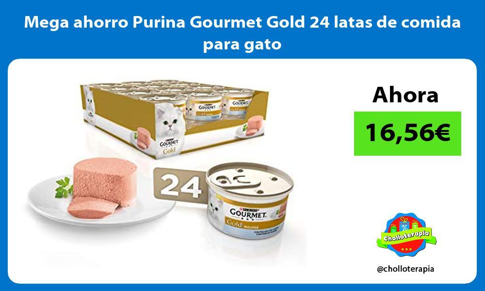 Mega ahorro Purina Gourmet Gold 24 latas de comida para gato