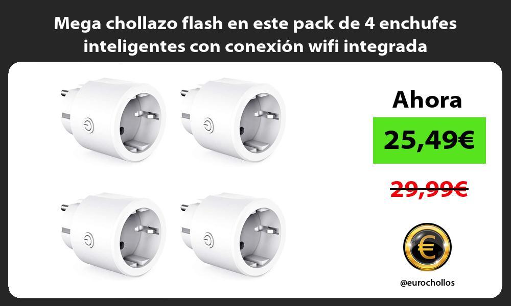 Mega chollazo flash en este pack de 4 enchufes inteligentes con conexión wifi integrada