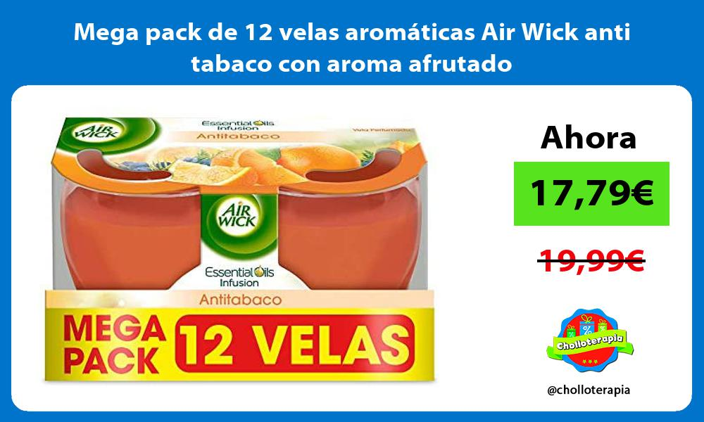 Mega pack de 12 velas aromáticas Air Wick anti tabaco con aroma afrutado